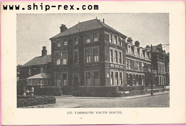 Great Yarmouth Youth Hostel - plain back card